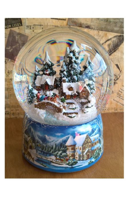 Large Snow Globe with Winter Wonderland Scene 55117